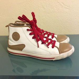 L.A.M.B. Gwen Stefani Leather High Top Sneakers 10